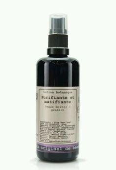 lotion botanique, lotion purifiante, soin dégrisant, soin peaux grasses