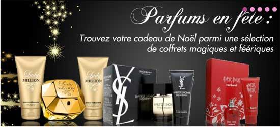Photo illustrant des parfums de marque pas cher pour Noël